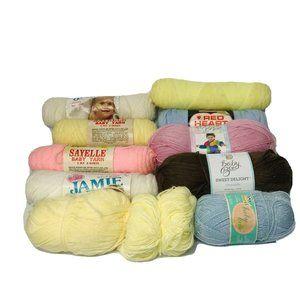 Vintage Baby Yarn Mix Lot Mulitcolor Skeins
